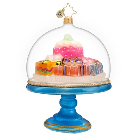 RADKO 1017193 SWEET PRESENTATION - CANDY IN DOME ORNAMENT - NEW 2014 (14-7)