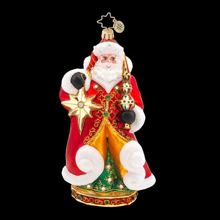 RADKO 1017587 ENCHANTED NICK - JEWELED SANTA - SIGNED BY BOTH ARTISTS - MARIO TARE & JOSEPH WALDEN - DESIGNER'S SIGNING EVENT ORNAMENT - NEW 2014 (14-1)