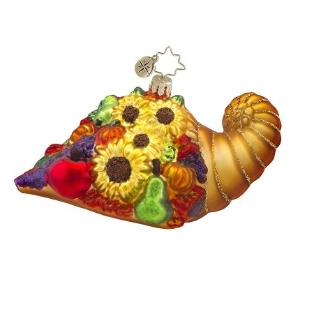 RADKO 1017595 HORN OF PLENTY - THANKSGIVING CORNUACOPIA ORNAMENT - NEW 2015 (15-4)
