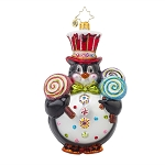 RADKO 1017611 POPSICLE PENNY - CANDY - PENGUIN WITH TOP HAT ORNAMENT - NEW 2015 (15-4)