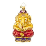 RADKO 1017614 GOLDEN MEDITATION - RELIGIOUS - HINDU ELEPHANT ORNAMENT - NEW 2015 (15-4)