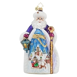 RADKO 1017619 WINTER DREAM NICHOLAS - LIMITED EDITION OF 900 - SANTA WITH PAINTED SCENE ORNAMENT - NEW 2015 (15-2)