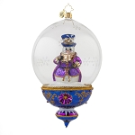 RADKO 1017624 PLUM FROSTY - LIMITED EDITION OF 700 - SNOWMAN IN DOMED ORNAMENT - NEW 2015 (15-2)