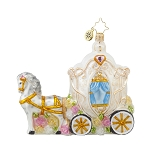 RADKO 1017629 WEDDING TIME - HORSE & WEDDING CARRIAGE ORNAMENT - NEW 2015 (15-5)
