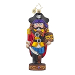 RADKO 1017653 CAPTAIN CRACKER - PIRATE NUTCRACKER WITH SWORD ORNAMENT - NEW 2015 (15-6)