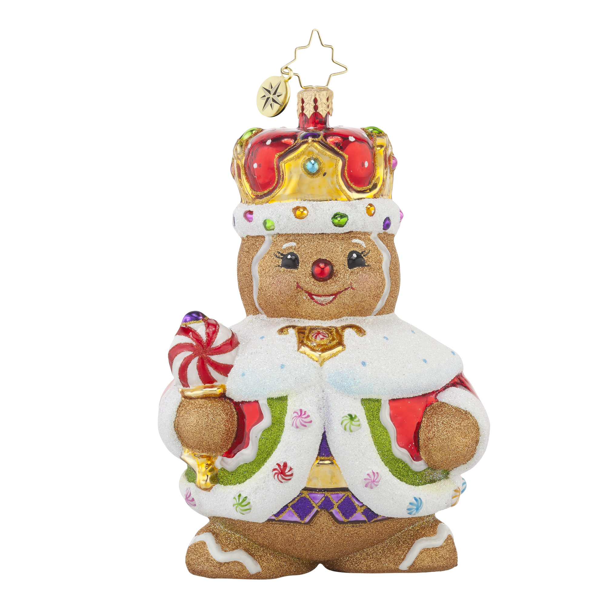 Gingerbread man ornaments - Radko 1017697 Ginger King Gingerbread Man With Crown Ornament New 2015 15 7
