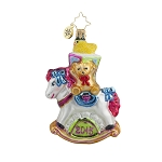 RADKO 1017705 ROCKING NEW YEAR GEM - DATED 2015 - TEDDY BEAR ON ROCKING HORSE ORNAMENT - NEW 2015 (23)