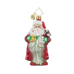 RADKO 1017707 SLEEPYTIME SANTA GEM - SANTA IN PAJAMAS ORNAMENT - NEW 2015 (23)