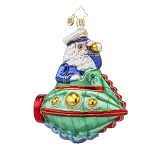 RADKO 1017741 SUBMARINE SANTA - CAPTAIN SANTA WITH SPY GLASS ORNAMENT - NEW 2015 (15-8)