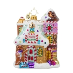 RADKO 1017747 SWEET FACTORY - CANDY FACTORY - GINGERBREAD HOUSE ORNAMENT - NEW 2015 (15-8)