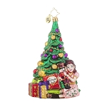 RADKO 1017750 CLARA'S GIFT - CLARA WITH NUTCRACKER BESIDE TREE ORNAMENT - NEW 2015 (15-8)