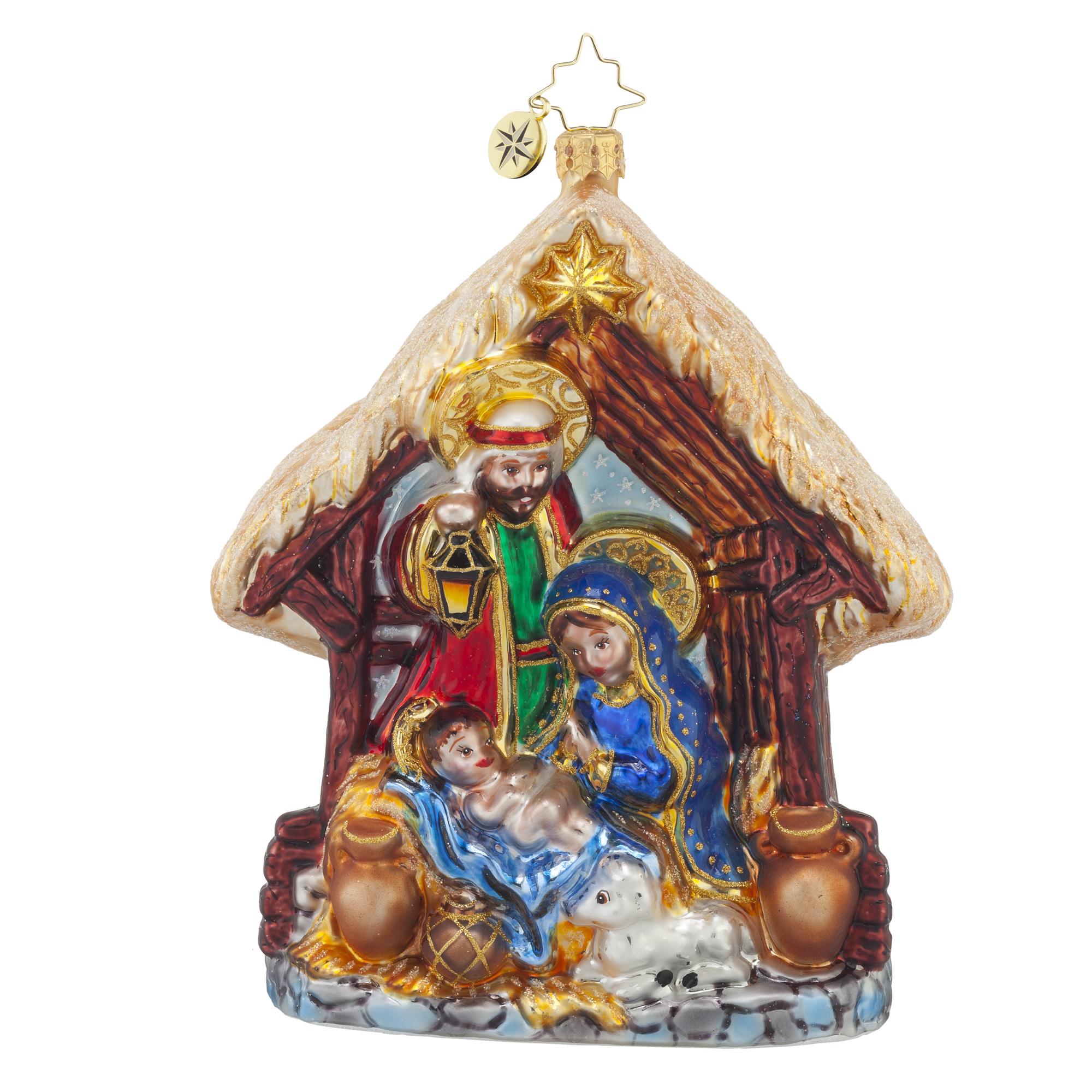 Vintage Religious Christmas Ornament: RADKO 1017782 JOYFUL NIGHT