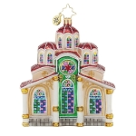 RADKO 1017784 HOLY SANCTUARY - RELIGIOUS - CHURCH ORNAMENT - NEW 2015 (15-9)