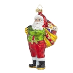 RADKO 1017786 A JOB WELL DONE - SANTA WITH BAG OF TOYS ORNAMENT - NEW 2015 (15-9)