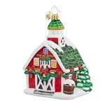 RADKO 1017866 COUNTRY CHRISTMAS - DECORATED BARN ORNAMENT - NEW 2015 (15-11)