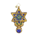 RADKO 1017882 DAVID'S STAR - HANUKKAH - STAR OF DAVID ORNAMENT - NEW 2015 (15-12)