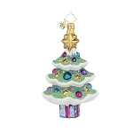 RADKO 1017888 SPARKLY SPRUCE - BRILLIANT TREASURE - TREE ORNAMENT - NEW 2015 (15-12)