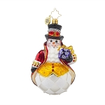 RADKO 1017905 LORD FROST - BRILLIANT TREASURE - ELEGANT SNOWMAN ORNAMENT - NEW 2015 (15-13)