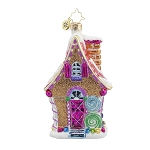 RADKO 1017907 SUGARY CHATEAU - BRILLIANT TREASURE - GINGERBREAD HOUSE ORNAMENT - NEW 2015 (15-13)