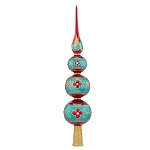 RADKO 1017915 LUXURIOUS TREE TOPPER FINIAL - JEWELED 3 BALL FINIAL - NEW 2015 (FIN-6)