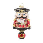RADKO 1017940 HERR CRACKER - LIMITED EDITION OF 900 - NUTCRACKER ON BALL ORNAMENT - NEW 2015 (15-2)