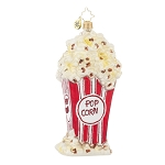 RADKO 1017952 PERFECTLY POPPED - BAG OF POPCORN ORNAMENT - NEW 2015 (15-14)