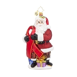 RADKO 1017980 CARING CLAUS - AIDS AWARENESS - SANTA ORNAMENT - NEW 2015 (15-1)