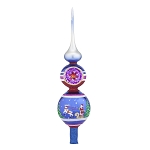 RADKO 1018001 VINTAGE MEMORIES FINIAL - PAINTED SCENE WITH BALL WITH REFLECTOR FINIAL - NEW 2015 (FIN-6)