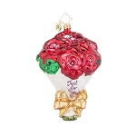 RADKO 1018007 JUST FOR YOU - VALENTINE - BOUQUET OF ROSES ORNAMENT - NEW 2015 (15-15)