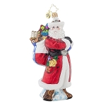 RADKO 1018009 TEXAS RANGER NICK - SANTA ORNAMENT - NEW 2015 (15-15)