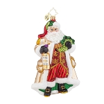 RADKO 1018015 OFF THE VINE BLANC - SANTA WITH WHITE WINE ORNAMENT - NEW 2015 (15-15)