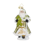 RADKO 1018025 NICHOLAS CARES - LYMPHOMA AWARENESS - SANTA WITH STAFF ORNAMENT - NEW 2015 (15-1)