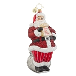 RADKO 1018030 BRIGHTLY BRANT - DESIGNER FOR A DAY - SANTA WITH LIST ORNAMENT - NEW 2015 (15-16)