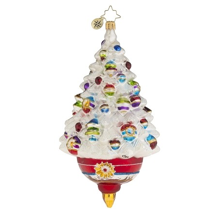 RADKO 1018127 ADORNED FROSTED DELIGHT - WHITE TREE ORNAMENT - NEW 2016 (16-3)