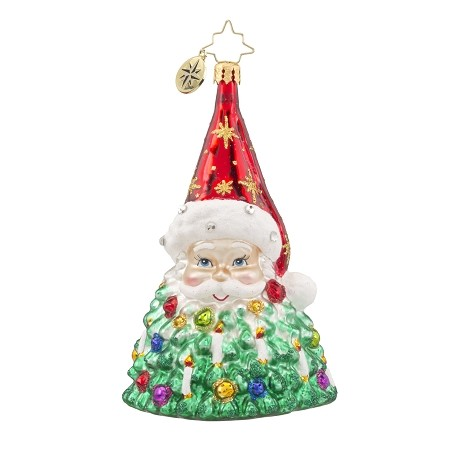 RADKO 1018128 ST. NICK BRILLIANCE - SANTA TREE ORNAMENT - NEW 2016 (16-3)