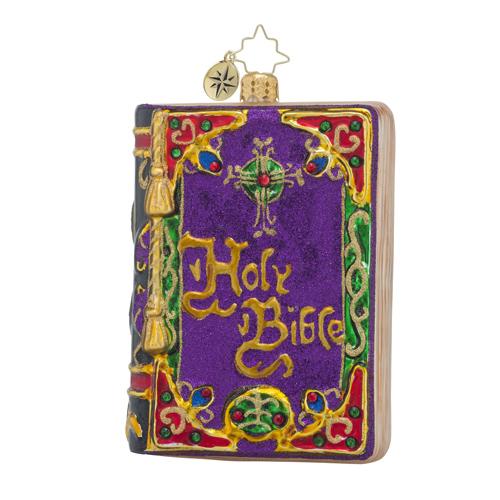Christopher Radko Religious Christmas Ornament Holy: RADKO 1018549 BEAUTIFUL TESTAMENT