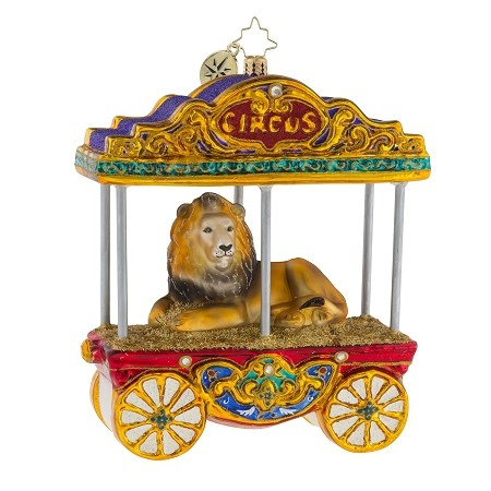 RADKO 1018932 ONE BIG KITTY! - LIMITED EDITION OF 768 - CIRCUS LION ORNAMENT - NEW 2018 (18-1)