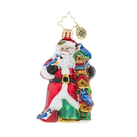 RADKO 1019206 BIRDY CHRISTMAS CONDOS GEM - SANTA WITH BIRD HOUSES ORNAMENT - NEW 2018 (26-6)