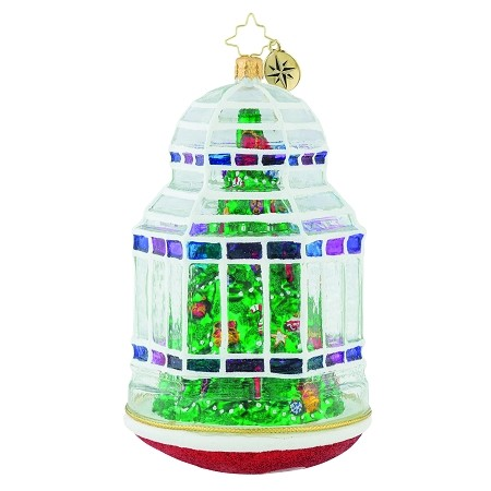 RADKO 1019614 CHRISTMAS CONSERVATORY - LIMITED EDITION OF 228 - CHRISTMAS TREE IN DOMED ORNAMENT - NEW 2018 (18-1)