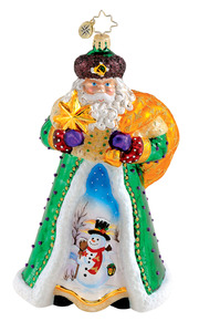RADKO 1015245 SCENIC SPLENDOR - SANTA - LIMITED EDITION 670 - RETIRED ORNAMENT (Q7)