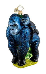 RADKO 1015260 ALL IN THE FAMILY - GORILLA ORNAMENT - NEW 2011 (Q9)