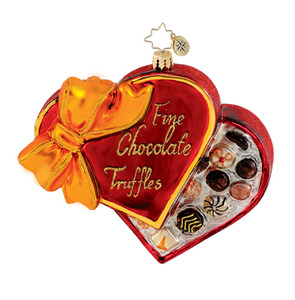 RADKO 1015273 SWEET TREATS - VALENTINE HEART TRUFFLES CANDY ORNAMENT - NEW 2011 (Q9)