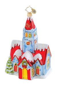 RADKO 1015129 OLDE WORLD WORSHIP - SNOW COVERED CHURCH - RETIRED ORNAMENT (Q4)