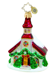 RADKO 1015641 TRINITY CHURCH GEM - SNOW COVERED CHURCH ORNAMENT - NEW 2011 (19)