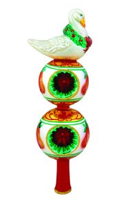 RADKO 1015808 SIX GEESE A LAYING FINIAL - 12 DAYS OF CHRISTMAS - TREE TOPPER - NEW 2011