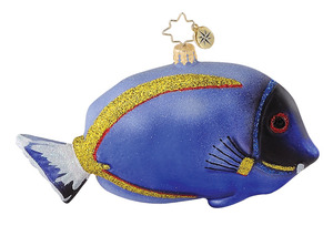 RADKO 1014825 FESTIVE FINNY - PURPLE FISH - RETIRED ORNAMENT (Q7)