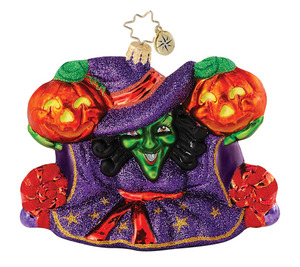 RADKO 1015056 WITCHITY SPLIT - HALLOWEEN - WITCH - PUMPKINS - RETIRED ORNAMENT (H3)