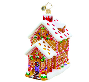 RADKO 1015484 HOUSE OF SWEETS - GINGERBREAD HOUSE - NEW 2011 (11-3)