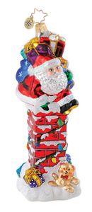 RADKO 1014906 SANTA'S CHIMNEY CHALLENGE - SANTA & GIFTS -  NEW 2010 - RETIRED ORNAMENT (Q8)