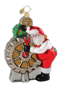 RADKO 1015166 CHEERY GEAR CHANGER - MECHANIC SANTA - RETIRED ORNAMENT (Q8)